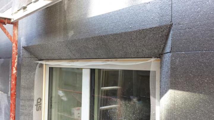 Einbau von Fenstern mit Abschrägung