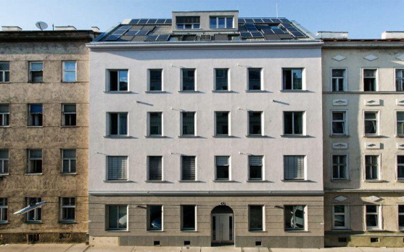Gründerzeithaus bewohnt auf Passivhausstandard saniert